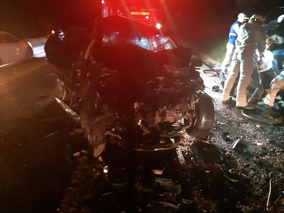 Acidente deixou seis mortos — Foto: PRE/Divulgação