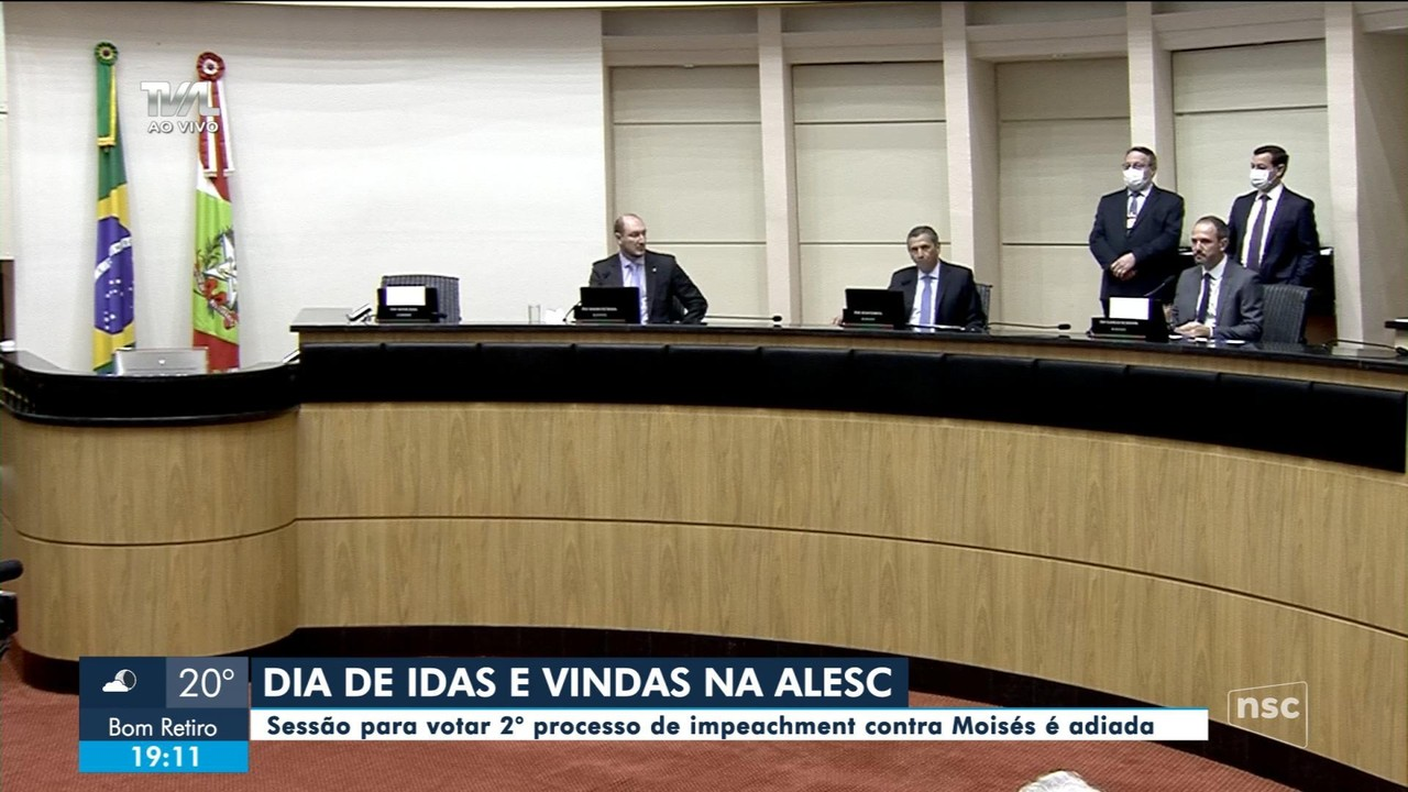 Votação do 2º pedido de impeachment contra governador é transferida