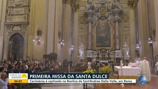 Basílica em Roma fica lotada na 1ª missa para Santa Dulce: 'Primeira santa brasileira colocada sobre os altares'