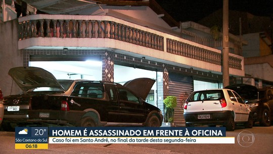 Homem é assassinado em frente a oficina mecânica em Santo André