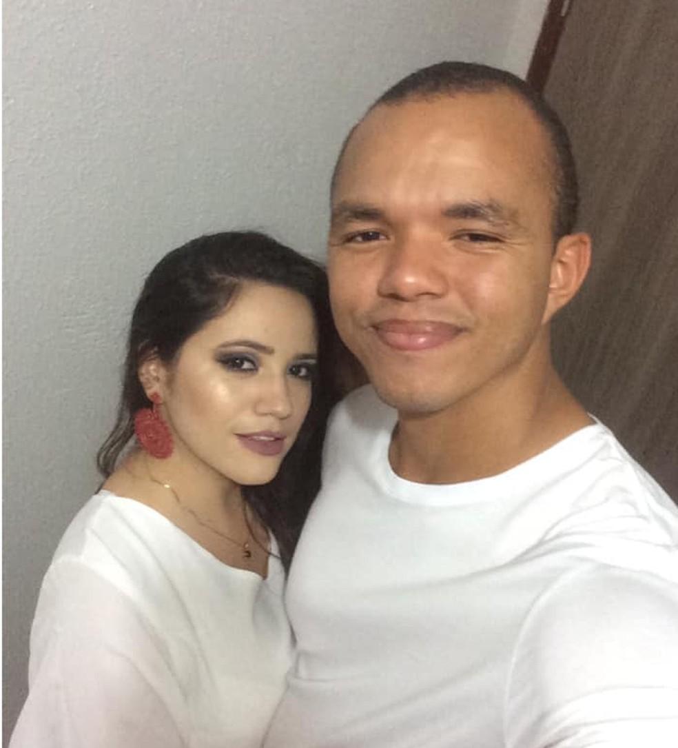 Bruna Lícia e o policial Carlos Eduardo moravam em união estável — Foto: Arquivo Pessoal