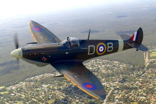 As asas com pontas elípticas são características do Spitfire (Foto: Divulgação)