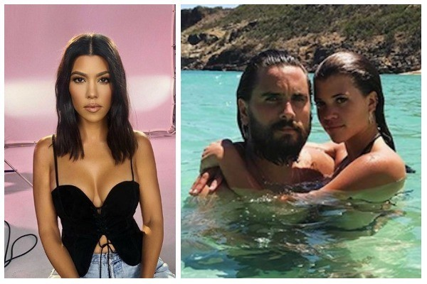 Kourtney Kardashian / Scott Disick e Sofia Richie (Foto: Instagram)