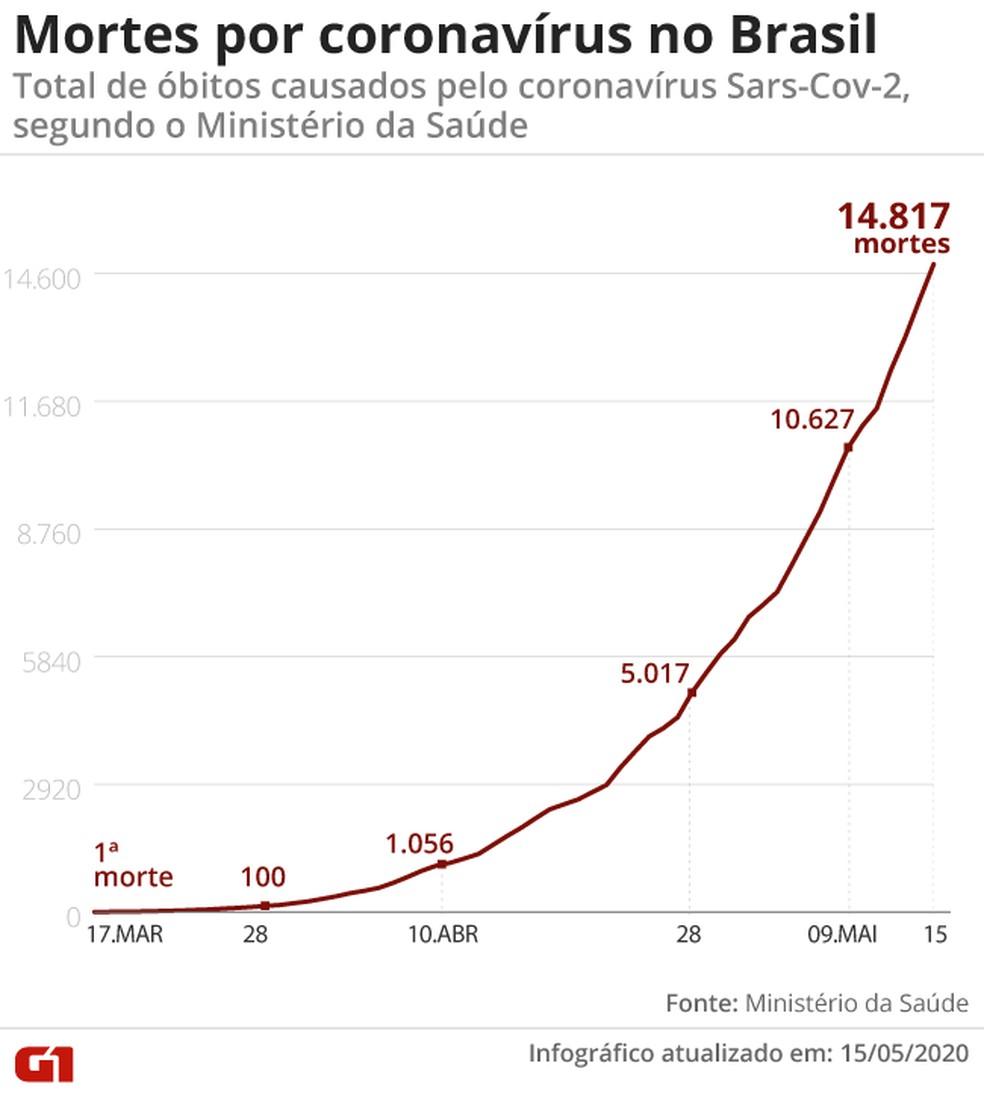 Foram 824 novos registros de mortes acrescentados em 24 horas — Foto: Aparecido Gonçalves / G1