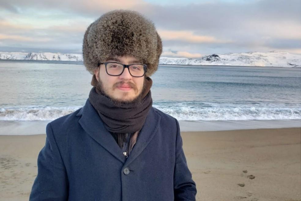 Universitário Mateus Oliveira de Andrade aguarda em um alojamento estudantil em Moscou a reabertura das fronteiras russas — Foto: Arquivo pessoal
