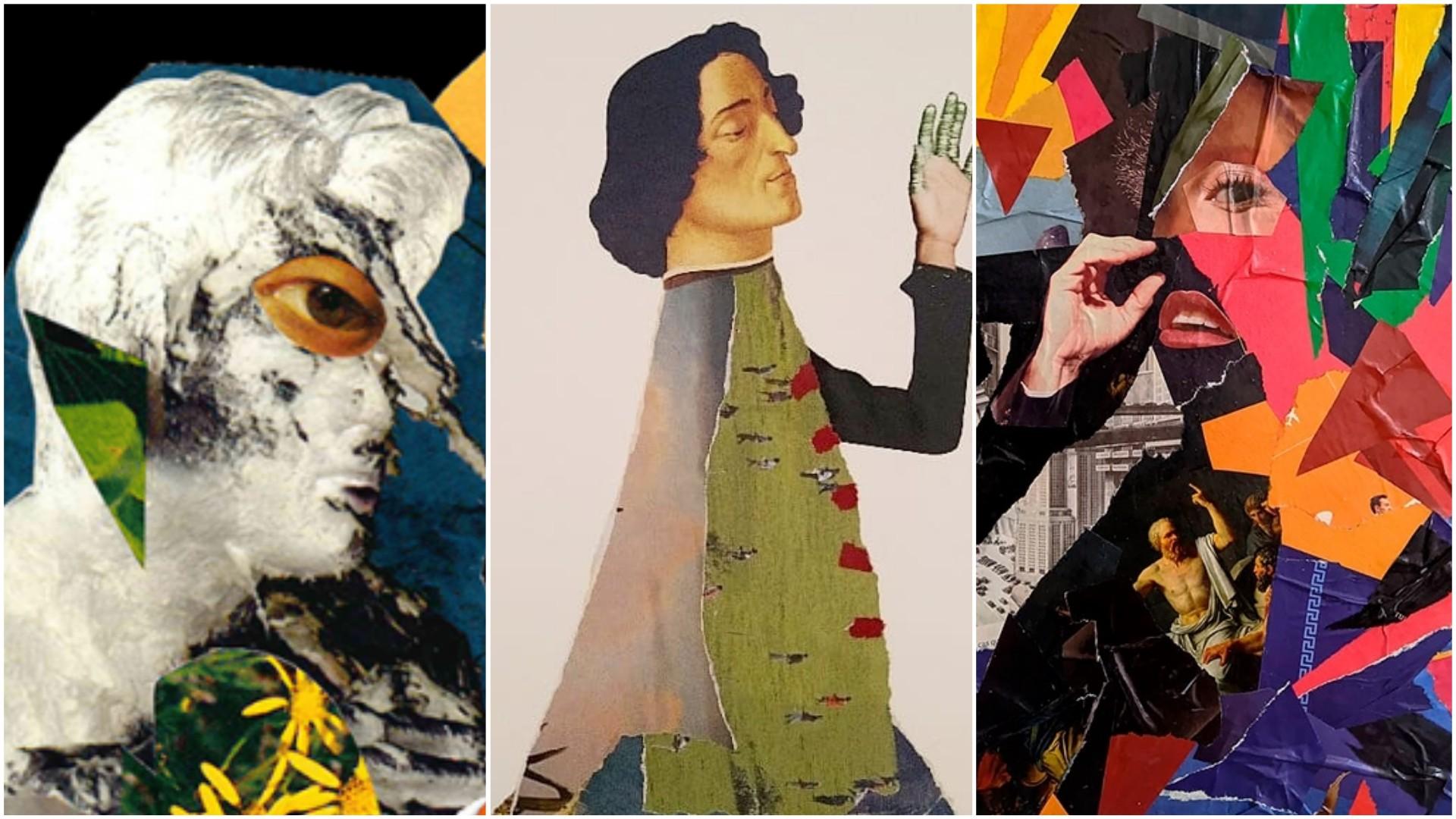 Exposição em São Luís apresenta obras feitas com colagem de papel e tesoura