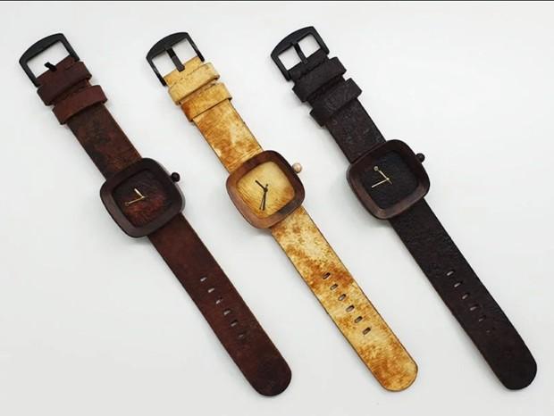 """Parece, mas não é: startup cria relógio feito com """"couro"""" de cogumelo"""