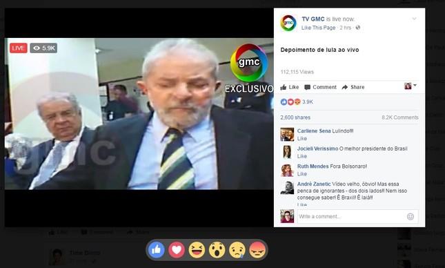 Suposto vídeo compartilhado com depoimento de Lul