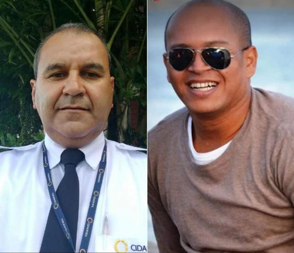 O motorista Carlos Antônio e o passageiro Jorge Eduardo, ambos morreram no acidente no sul da Bahia â?? Foto: Arquivo Pessoal