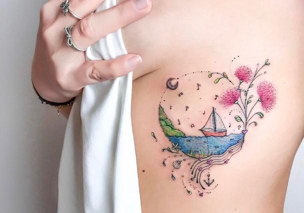 Tattoos de Ana Abrahão (Foto: Instagram/Reprodução)