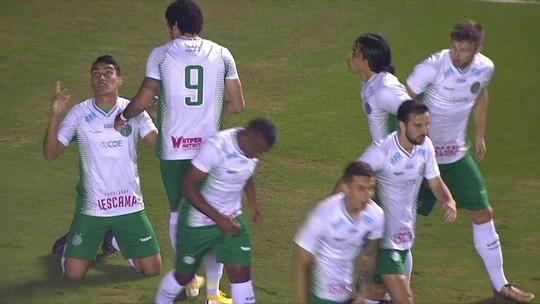 O gol de Oeste 0 x 1 Guarani pela 14ª rodada da série B do Brasileirão