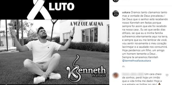 Kenneth Wallace morreu aos 34 anos com Covid-19 em São Luís de Montes Belos Goiás — Foto: Reprodução/Instagram