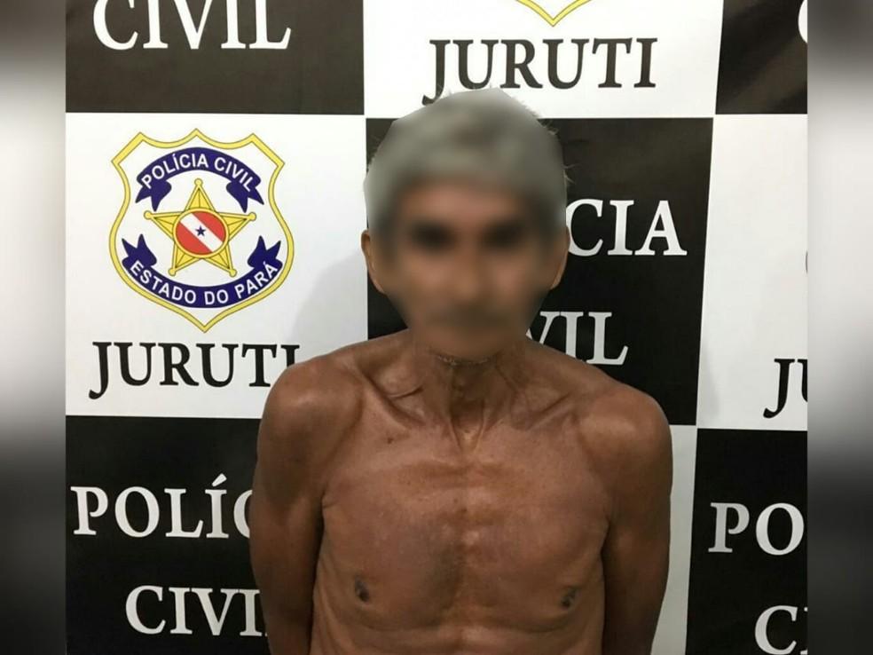 Homem cumpria prisão domiciliar e voltou a estuprar a filha em Juruti — Foto: Polícia Civil de Juruti