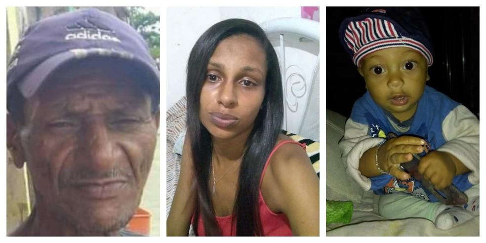 Pai, filha e neto, são três das vítimas fatais de acidente que matou 5 em Peruíbe, SP — Foto: Arquivo pessoal