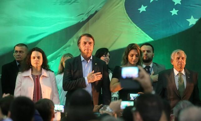 Lançamento da candidatura de Jair Bolsonaro para presidente do Brasil pelo PSL