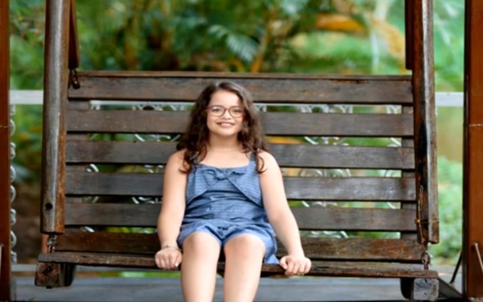 Isabella Vargas, de 9 anos, morreu com suspeita de dengue hemorrágica em Goiás — Foto: Reprodução/TV Anhanguera