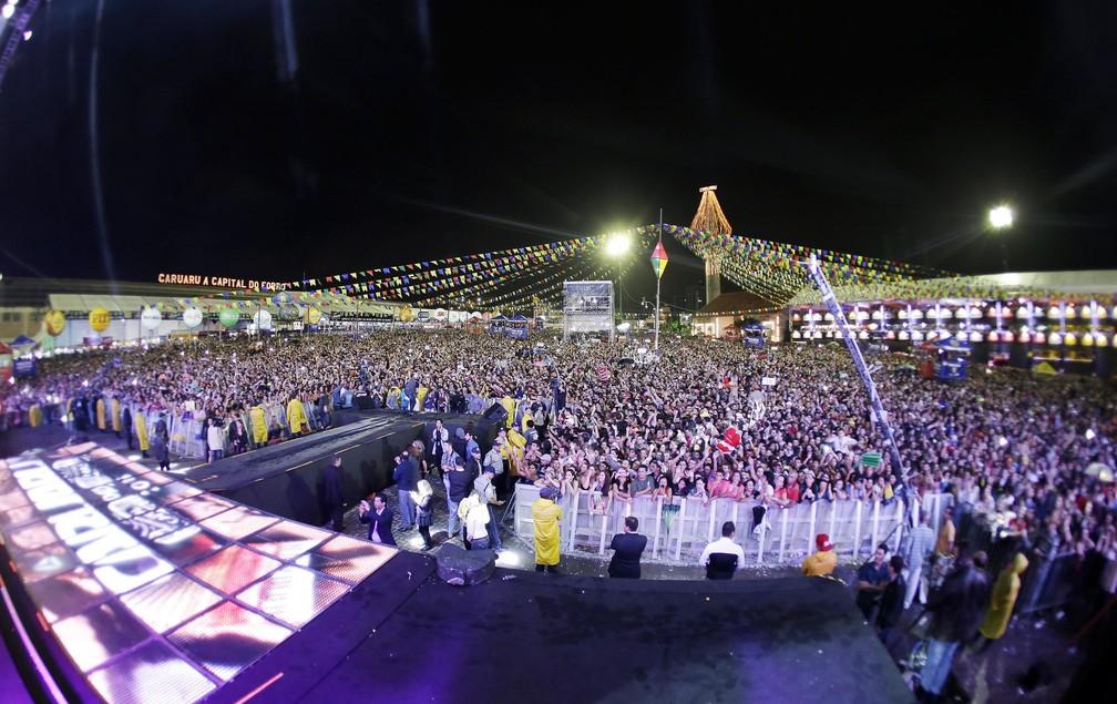 Pátio de Eventos Luiz Lua Gonzaga durante os festejos juninos — Foto: Rafael Lima/Divulgação