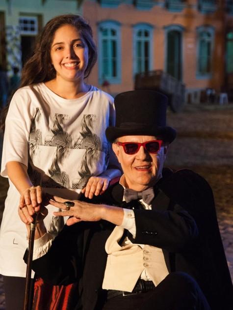 Patricia Pedrosa e Ney Latorraca em 'Cine Holliúdy' (Foto: Marcos Rosa/TV Globo)