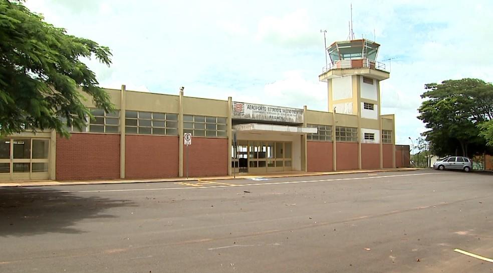 Aeroporto Lund Presotto em Franca, SP — Foto: Reprodução/EPTV