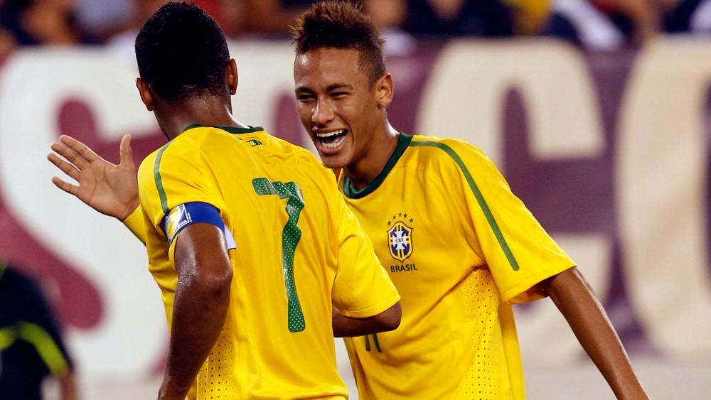 Neymar brasil e EUA - Amistoso em 10 de agosto de 2010