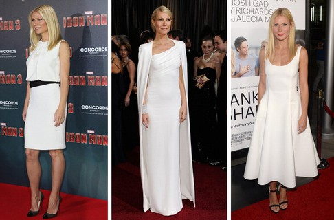 Sempre minimalista, Gwyneth Paltrow é adepta do look all-white há anos