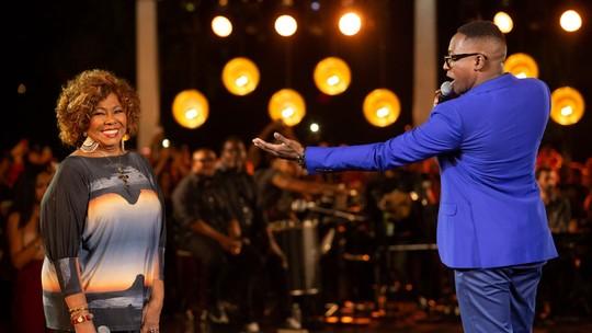 Após homenagear Alcione no 'Show dos Famosos', Mumuzinho grava DVD com participação da cantora