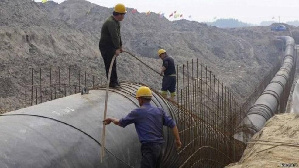 China realiza transposição de água do sul para abastecer Pequim  (Foto: Reuters)