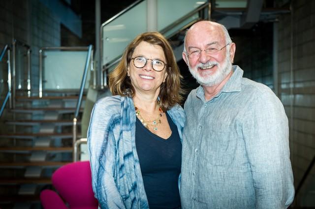 Denise Saraceni e Silvio de Abreu (Foto: Raquel Cunha/TV Globo)