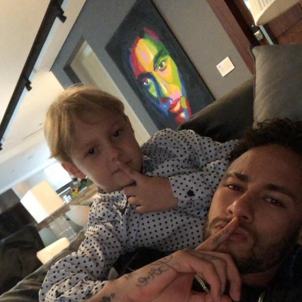 Neymar e David Lucca (Foto: Reprodução Instagram)