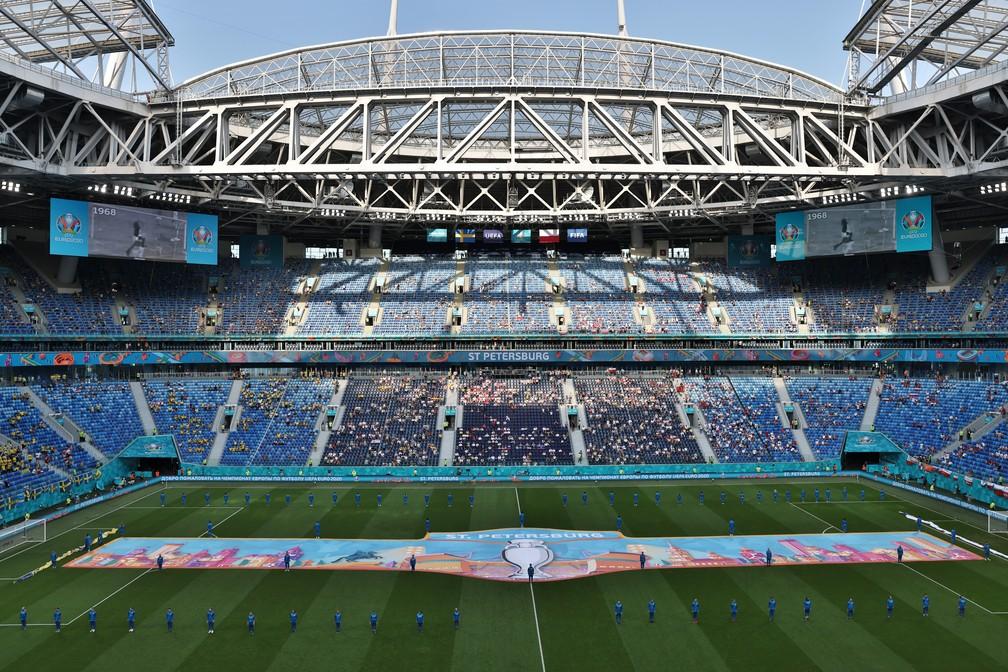 Arena Zenit, o Estádio de São Petersburgo, vai receber a final da Champions 2021/22 — Foto: Getty Images