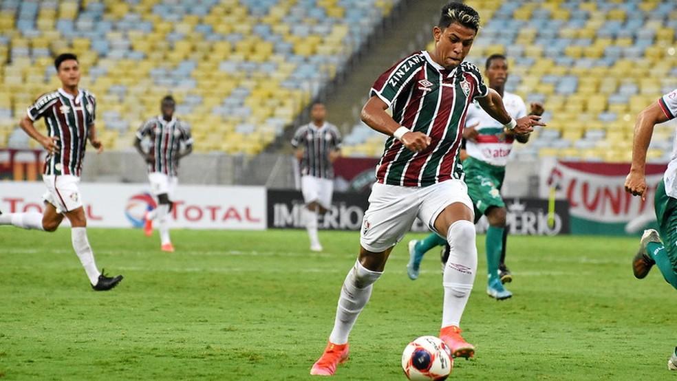 Matheus Martins ainda não aproveitou a brecha no profissional — Foto: Mailson Santana / Fluminense FC