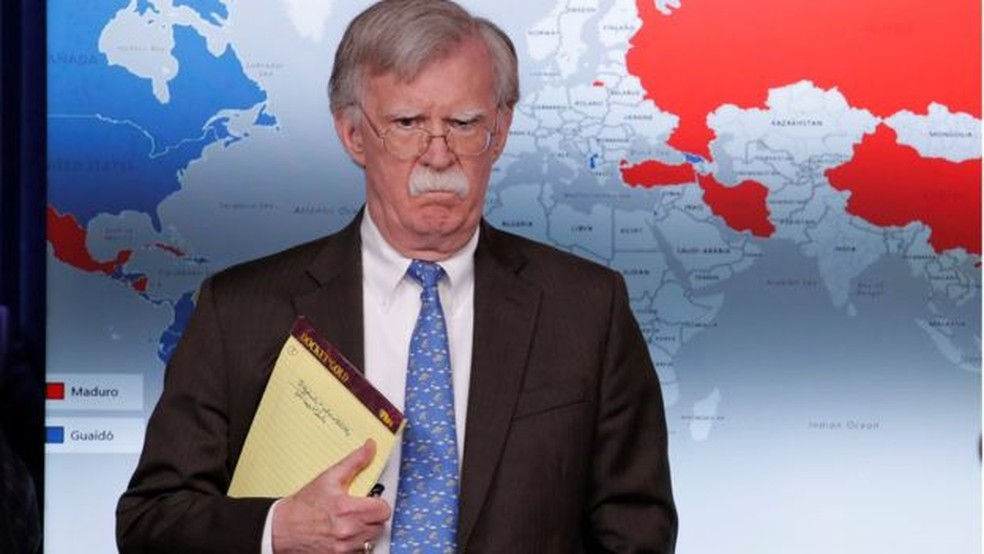 John Bolton, em imagem de abril de 2019 — Foto: Reuters