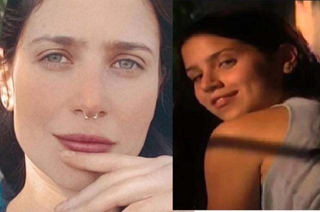 Mel Lisboa na fase atual e, à direita, como a protagonista de 'Presença de Anita' (Foto: Reprodução/Instagram e TV Globo)