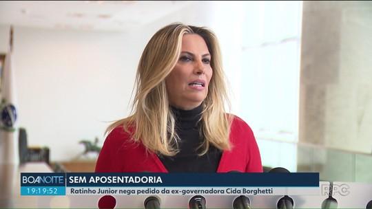 Ratinho Junior nega pedido de aposentadoria da ex-governadora Cida Borghetti