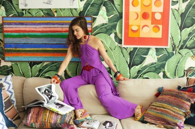 Por dentro do colorido apartamento da stylist Luciana Novis (Foto: Fernando Lombardi)