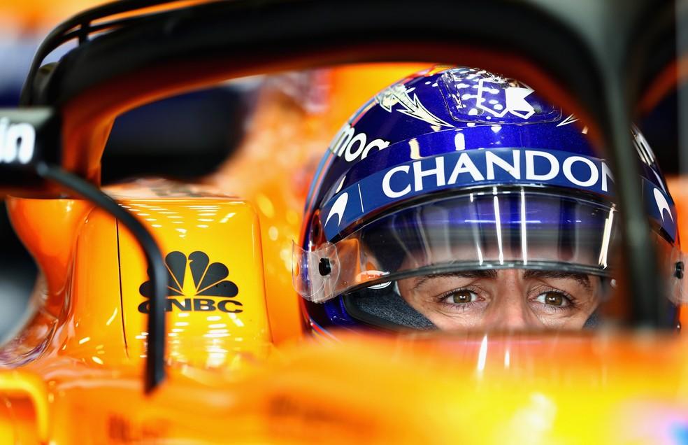 Fernando Alonso no GP da Austrália de 2018 (Foto: Mark Thompson/Getty Images)