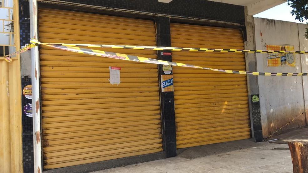 Polícia interditou bar que era usado como ponto de tráfico de drogas — Foto: Polícia Civil/ Divulgação
