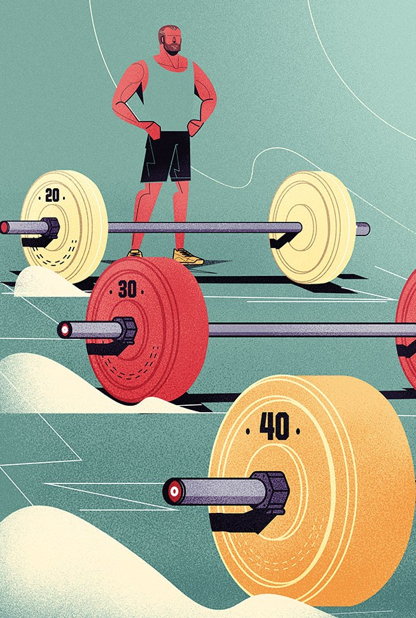 Musculoso aos 40? (Foto: Ilustração Denis Freitas)