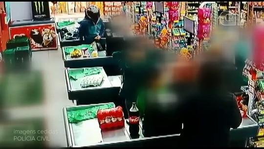 Homens assaltam supermercado, em Jaguariaíva; VÍDEO