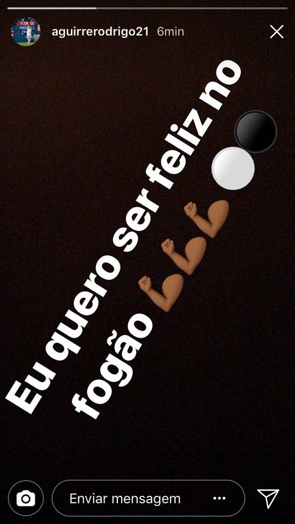 Uruguaio declarou publicamente sua vontade de jogar pelo Botafogo (Foto: Reprodução)