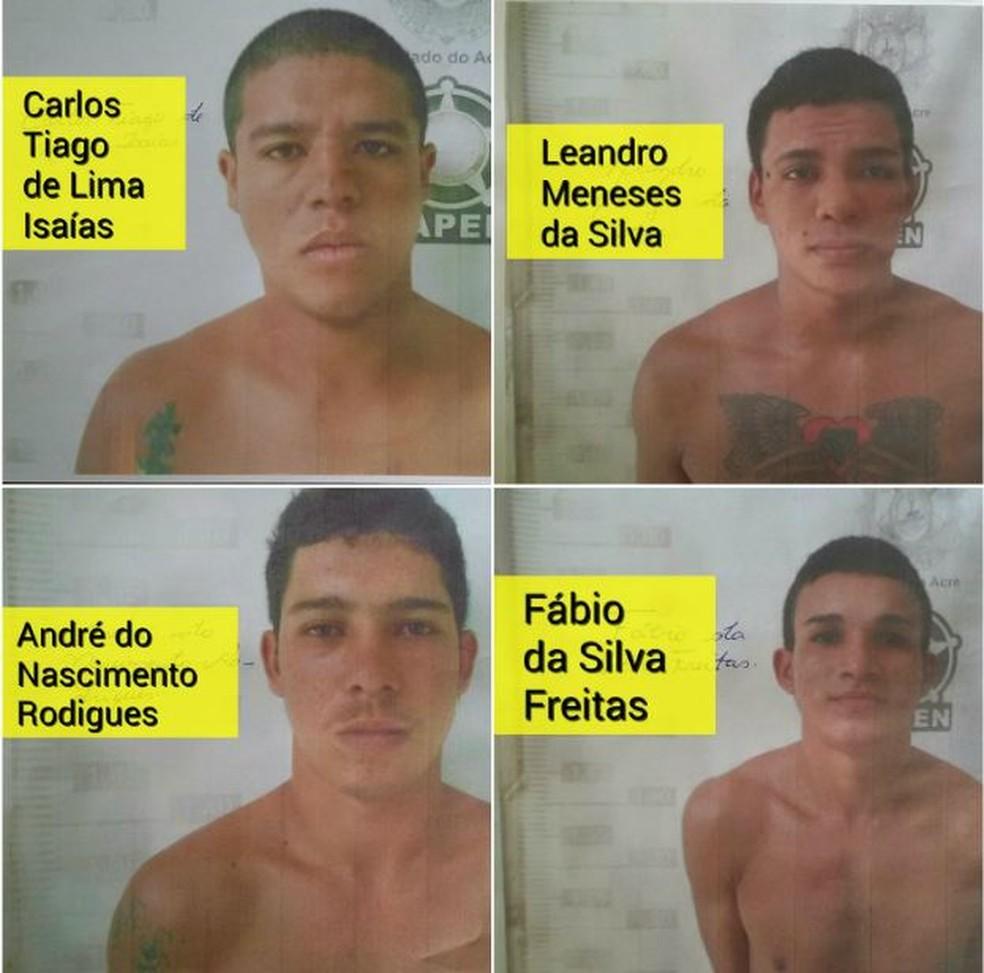 Quatro presos continuam foragidos no interior do Acre  (Foto: Divulgação/Iapen)