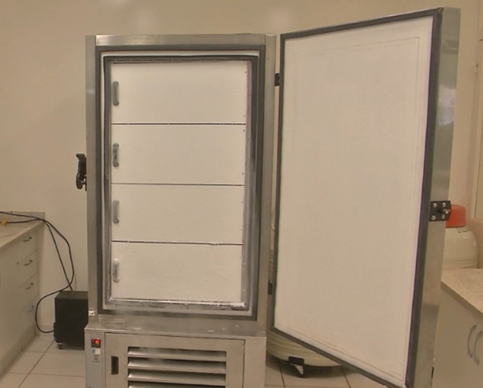 MS recebe pela primeira vez a vacina Pfizer contra Covid e doses serão armazenas em super freezers cedidos pela UCDB. — Foto: Ariovaldo Dantas/TV Morena