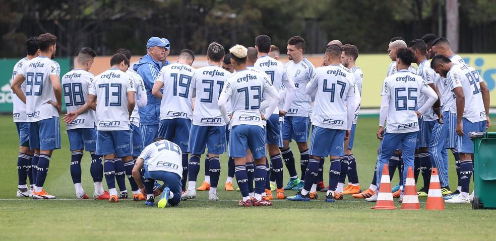 Elenco treinado por Felipão pode ser campeão nesta quarta-feira — Foto: Cesar Greco/Ag. Palmeiras