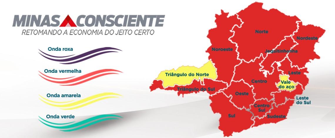 Macrorregião Norte regride para a onda vermelha do programa Minas Consciente