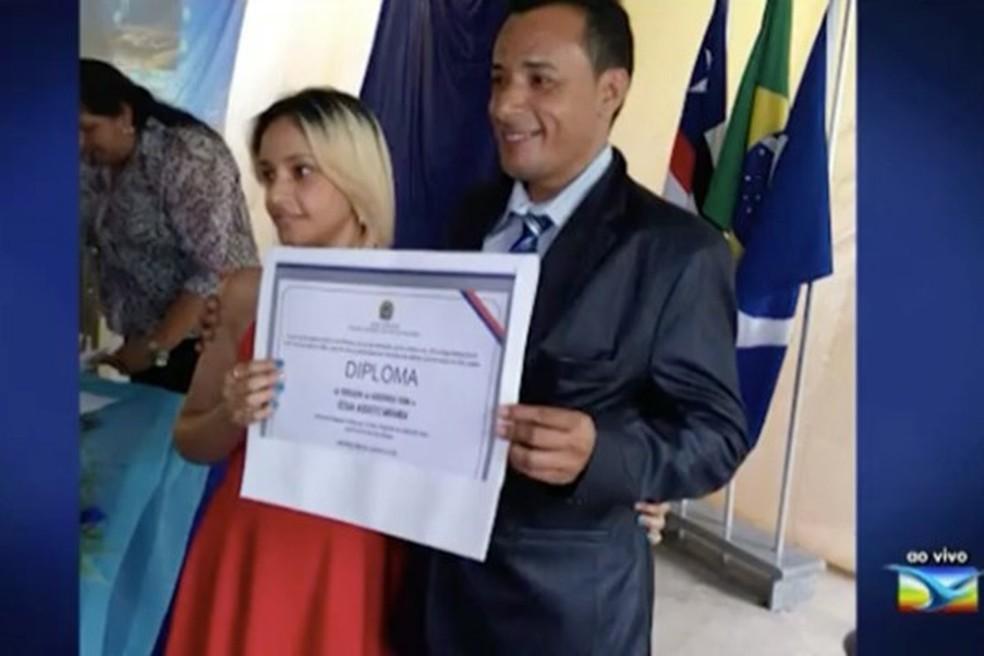 Vereador César Augusto foi morto horas depois de ser diplomado em Godofredo Viana — Foto: Reprodução/TV Mirante