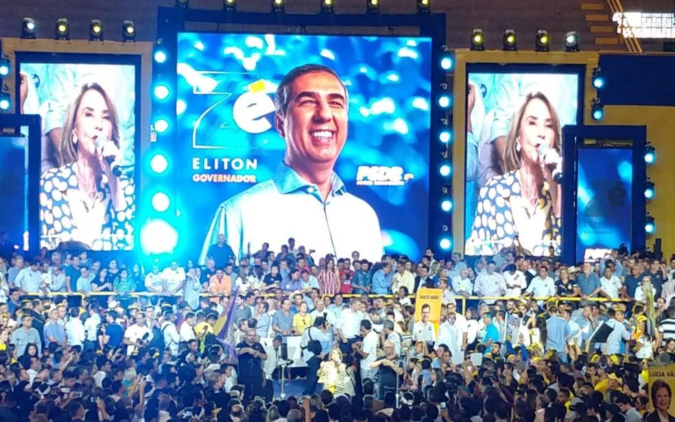 José Eliton é confirmado candidato a reeleição ao governo de Goiás (Foto: Giovana Dourado/TV Anhanguera)