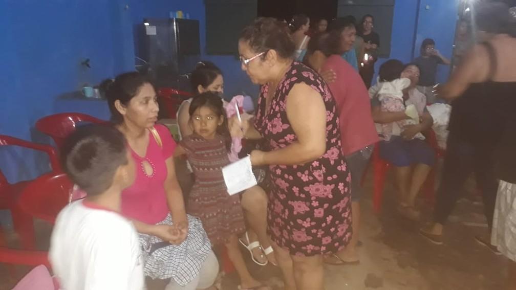 Moradores do vilarejo estão sendo realocados para Costa Marques.  — Foto: Senira Dantas/Arquivo pessoal