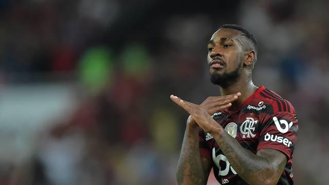 Gerson comemora o segundo gol do Flamengo