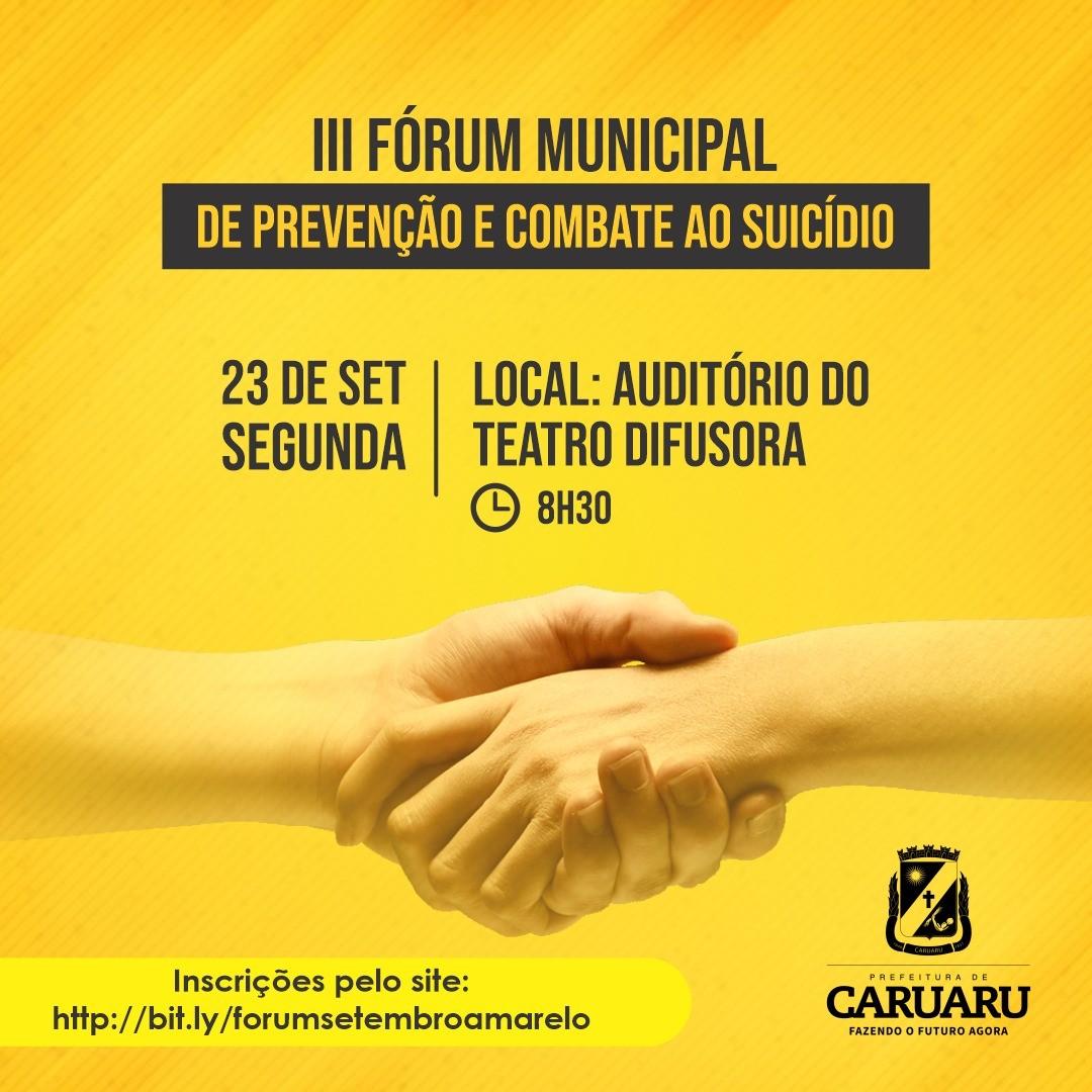 Prefeitura abre inscrições para '3º Fórum Municipal de Prevenção e Combate ao Suicídio' em Caruaru - Notícias - Plantão Diário