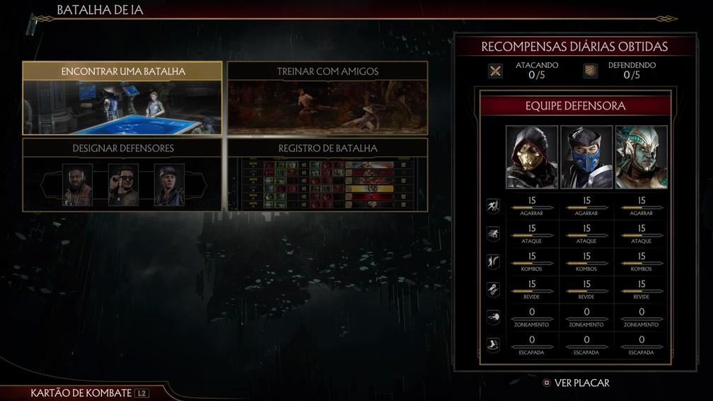 Batalha de IA em Mortal Kombat 11 — Foto: Reprodução / TechTudo